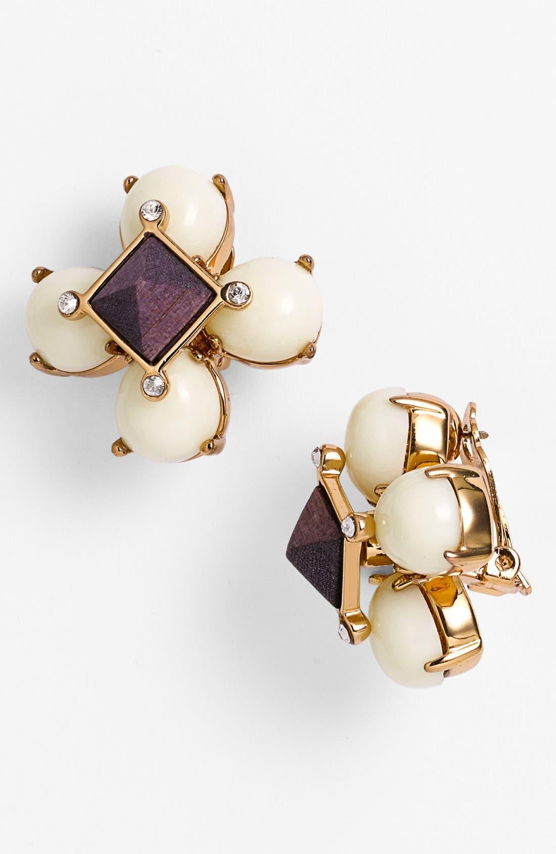 Alternate Image 1 Selected - Tory Burch Cluster Clip Earrings