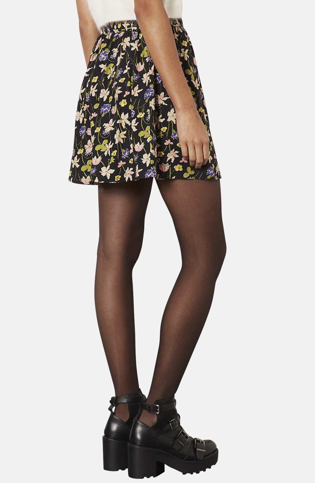 Alternate Image 2  - Topshop 'Milly' Wildflower Print Skirt