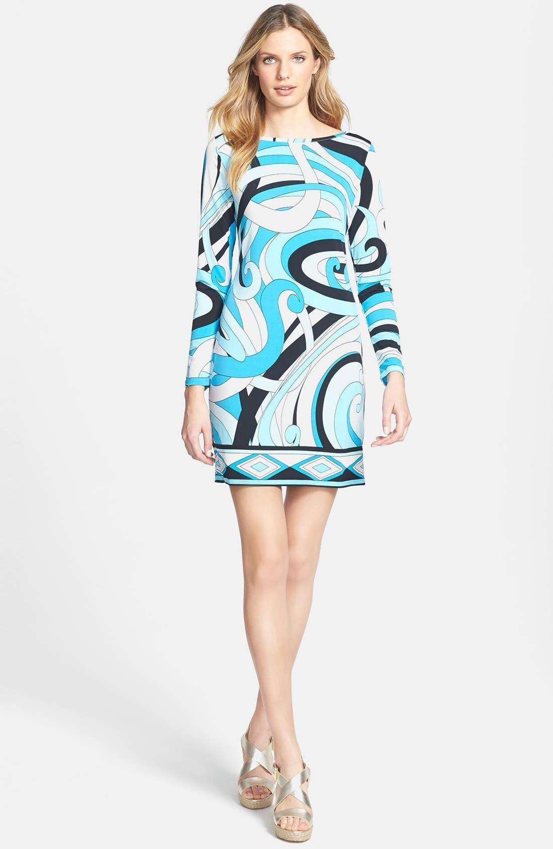 Alternate Image 1 Selected - MICHAEL Michael Kors 'Marquee' Boatneck Dress (Regular & Petite)