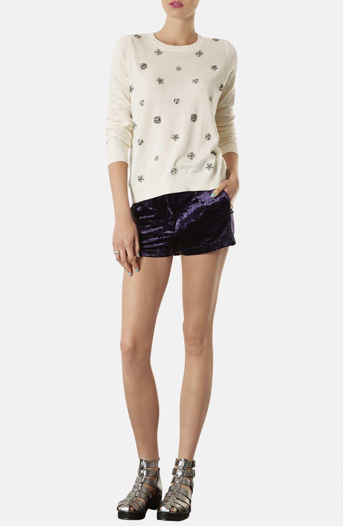 Alternate Image 4  - Topshop Embellished Knit Sweater