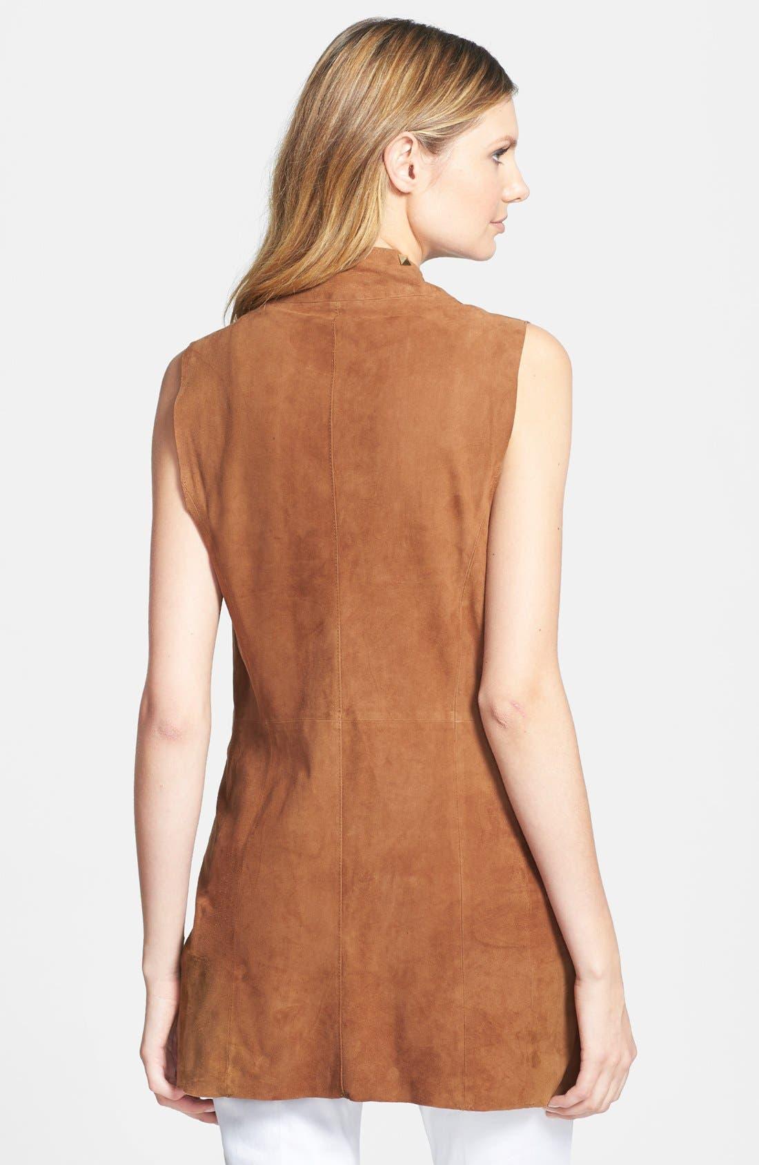 Alternate Image 2  - MICHAEL Michael Kors Drape Front Suede Vest