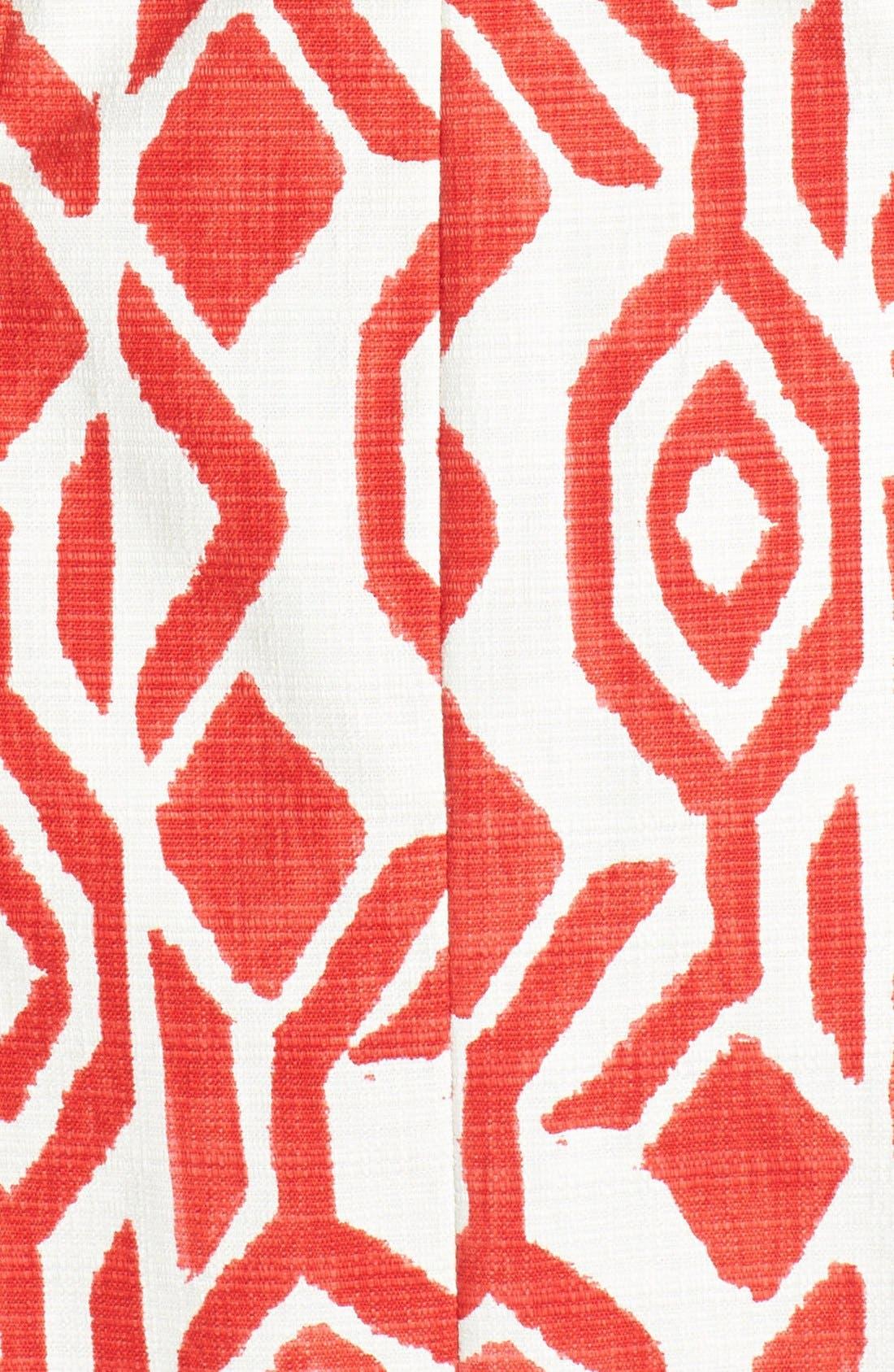 Alternate Image 3  - Eliza J Print Cutaway Bodice Stretch Cotton Fit & Flare Dress