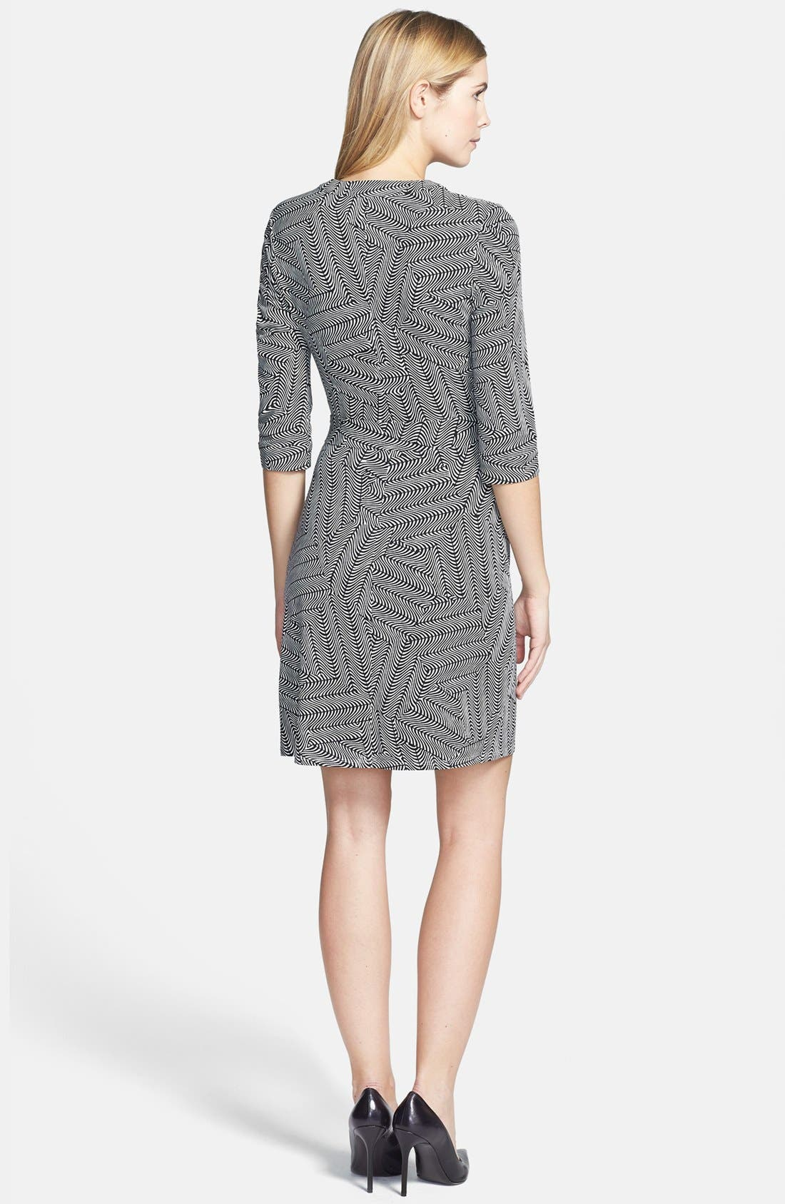 Alternate Image 2  - Laundry by Shelli Segal Print Jersey Faux Wrap Dress