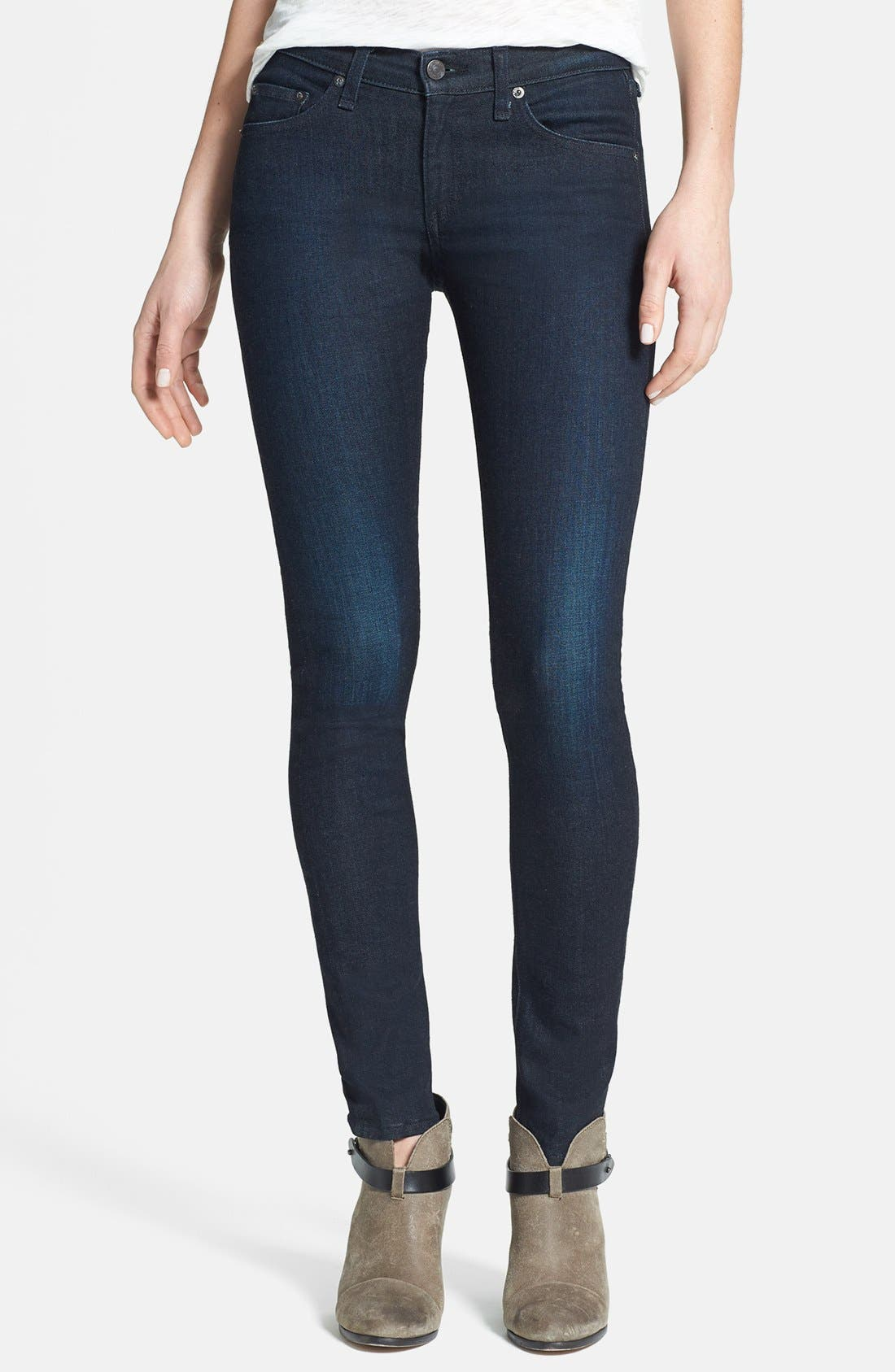 Alternate Image 1 Selected - rag & bone/JEAN Skinny Stretch Jeans (Heritage)