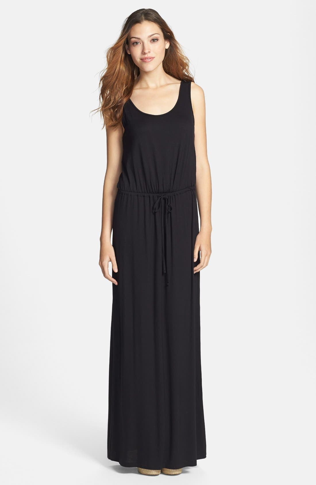Alternate Image 1 Selected - Caslon® Drawstring Waist Maxi Dress (Regular & Petite)