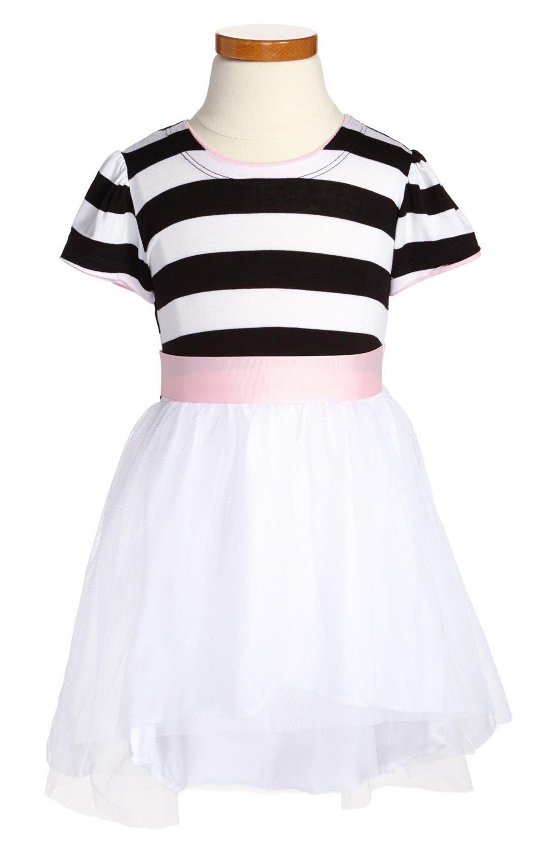 Alternate Image 1 Selected - Twirls & Twigs Stripe Bodice Dress (Little Girls & Big Girls)