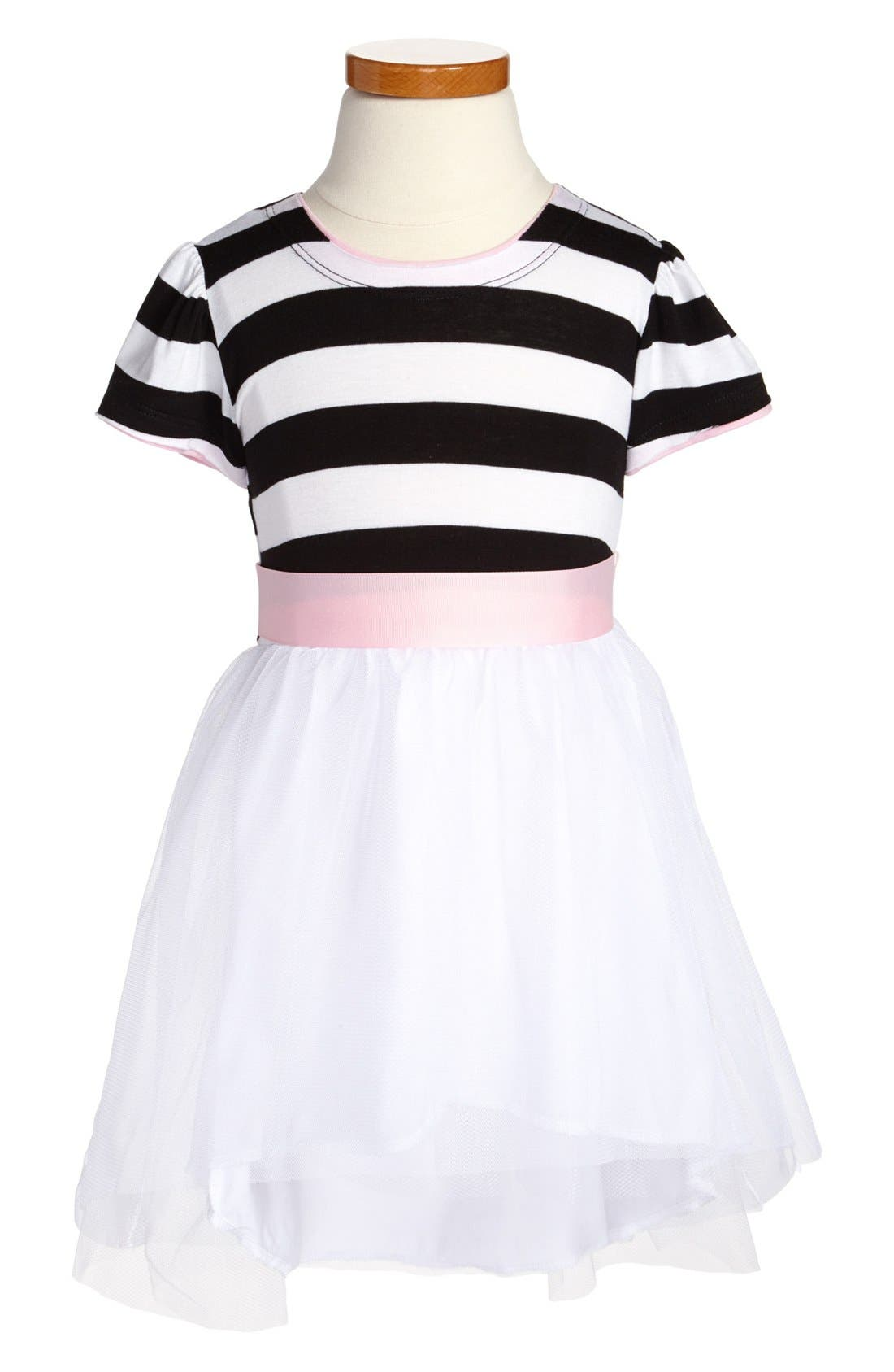 Main Image - Twirls & Twigs Stripe Bodice Dress (Little Girls & Big Girls)