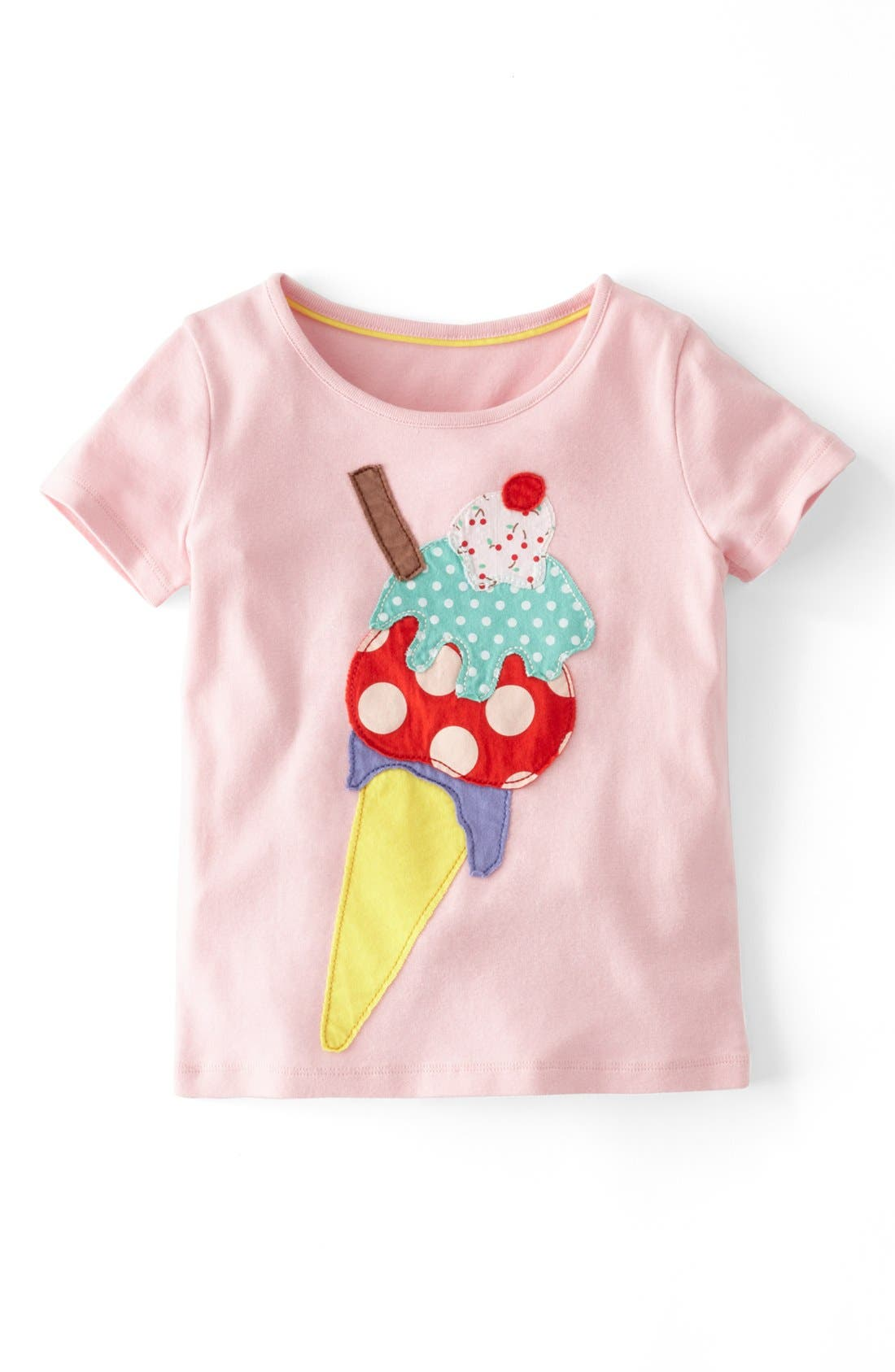 Alternate Image 1 Selected - Mini Boden 'Big Appliqué' Tee (Little Girls & Big Girls)