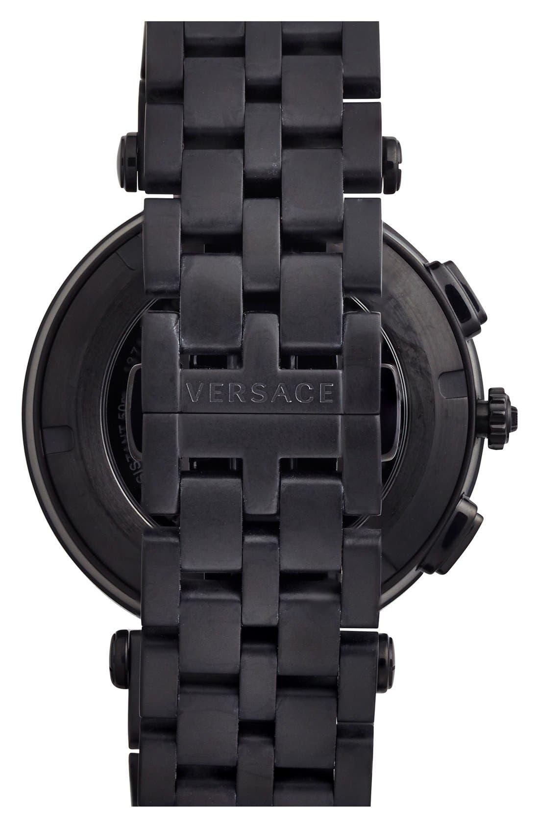 Alternate Image 2  - Versace 'V-Race GMT' Bracelet Watch, 46mm