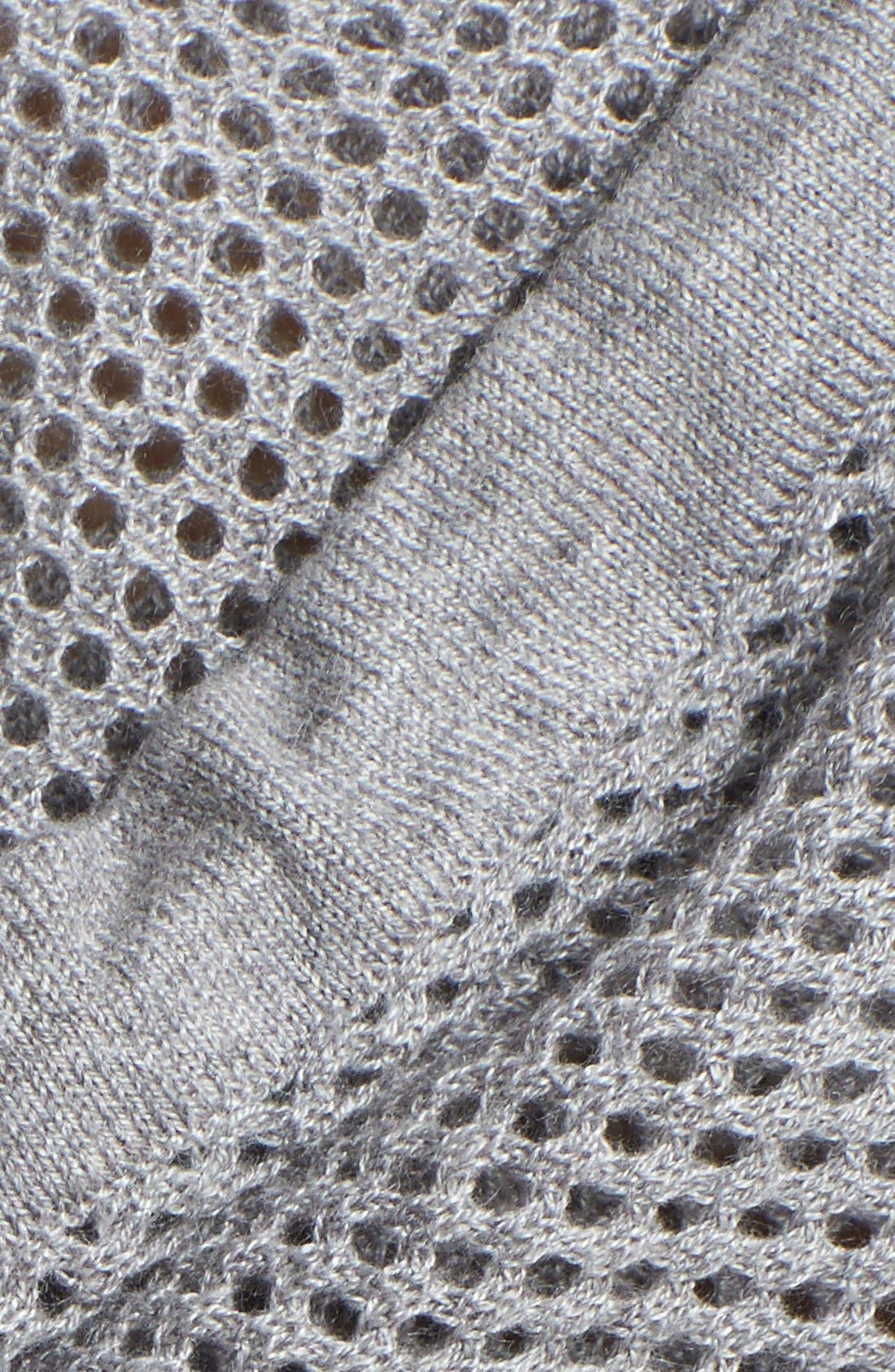 Alternate Image 3  - Sweet Romeo 'Ava' Hooded Open Stitch Sweater