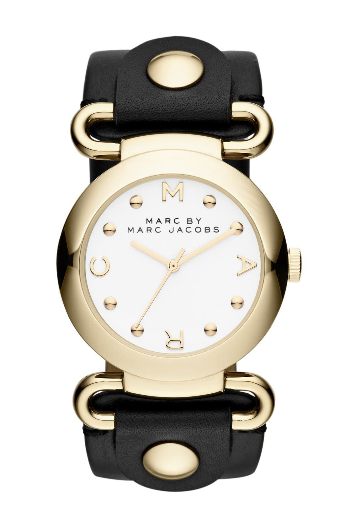 Main Image - MARC JACOBS 'Molly' Leather Strap Watch, 36mm