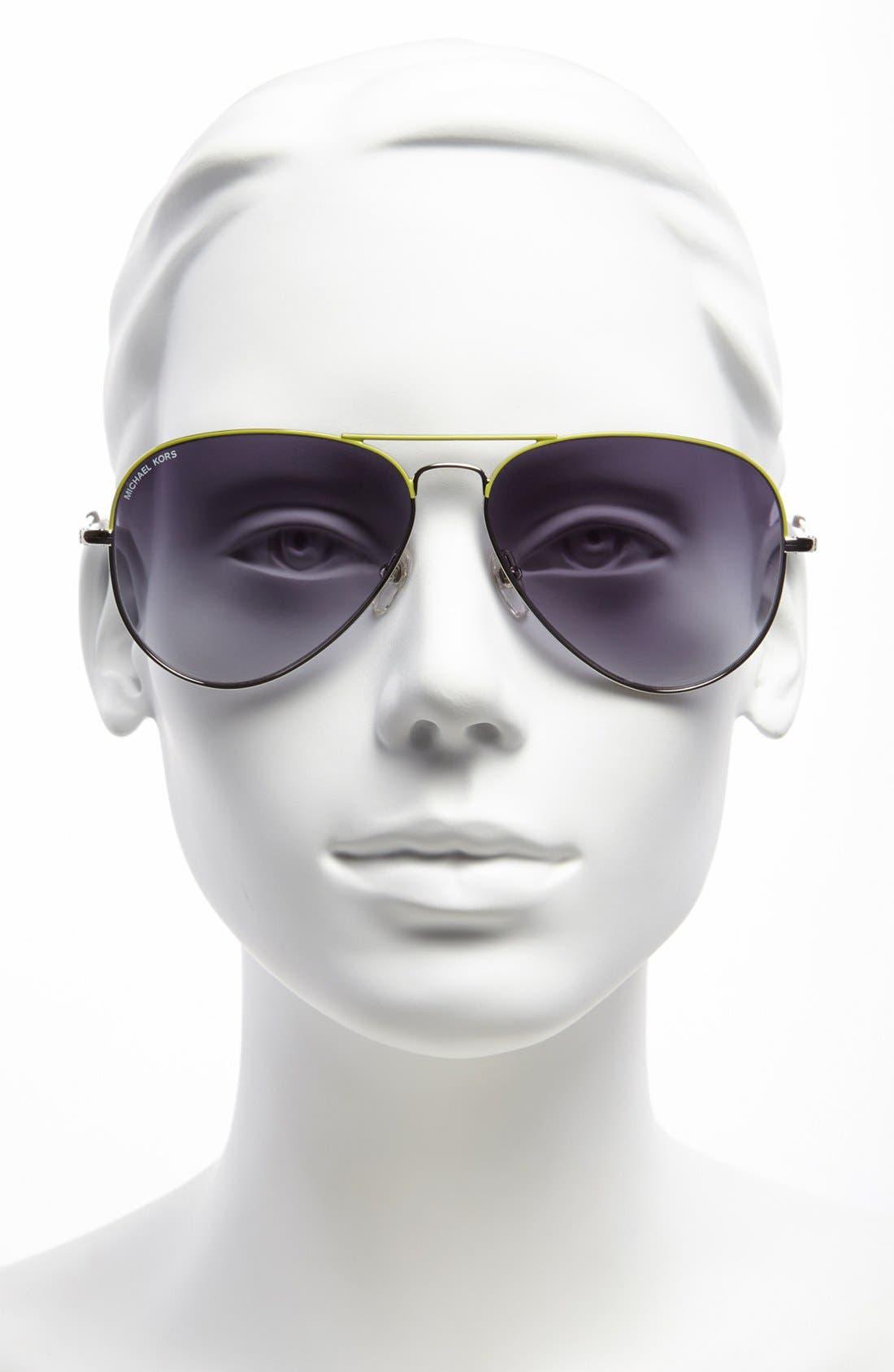 Alternate Image 2  - MICHAEL Michael Kors 62mm Aviator Sunglasses