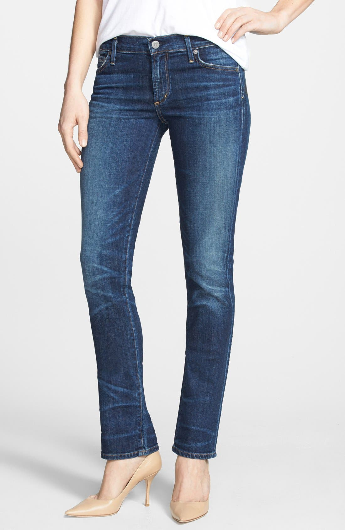 Alternate Image 1 Selected - Citizens of Humanity 'Ava' Straight Leg Jeans (Patina)