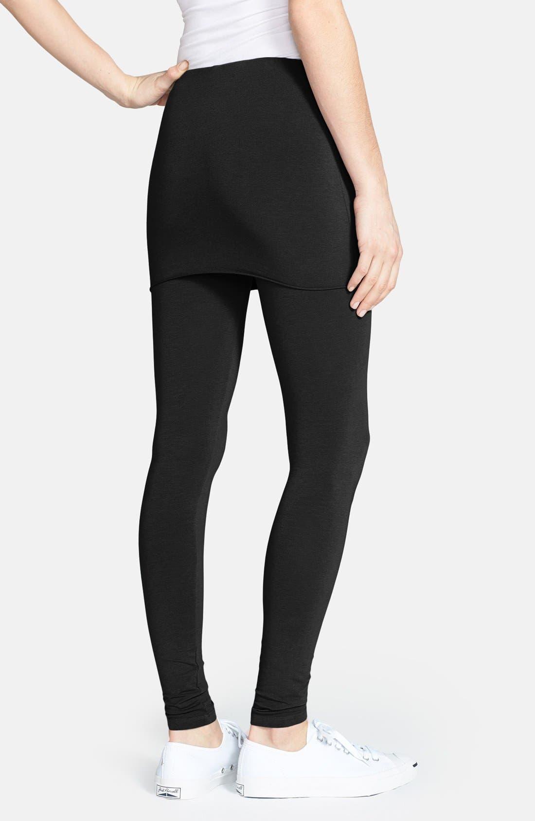 Alternate Image 2  - Splendid Jersey Skirted Leggings
