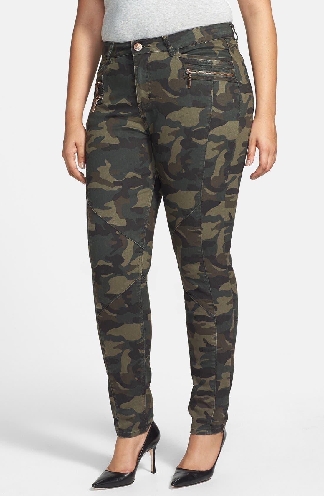 Main Image - City Chic Camo Print Pants (Plus Size)