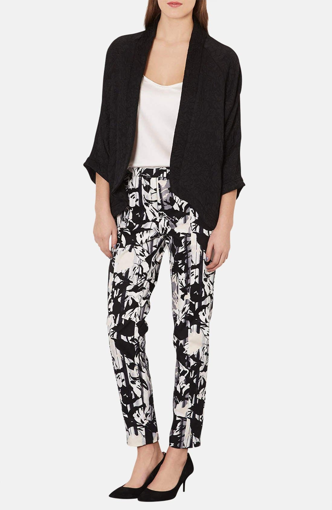 Alternate Image 4  - Topshop Floral Print Cigarette Pants