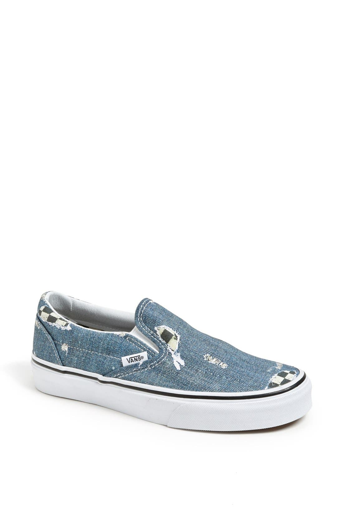 Alternate Image 1 Selected - Vans 'Classic - Denim' Sneaker (Women)
