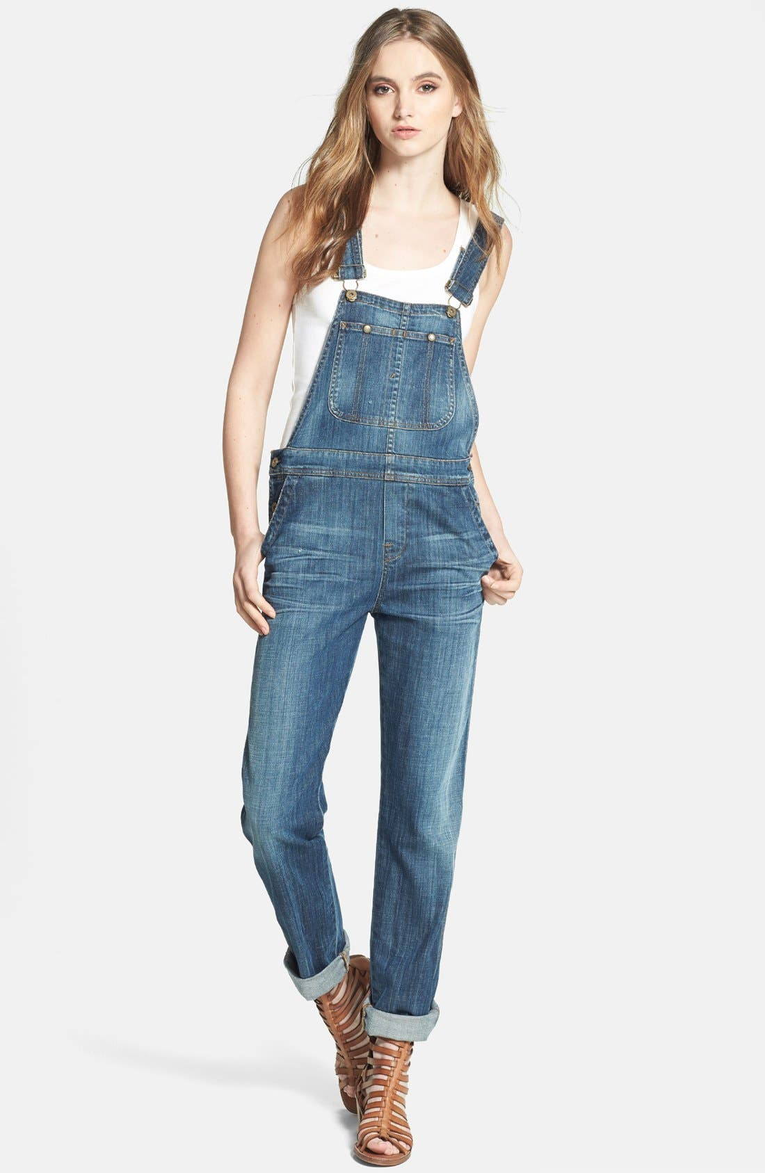 Alternate Image 1 Selected - Citizens of Humanity 'Drama Quincey' Overalls (Medium)