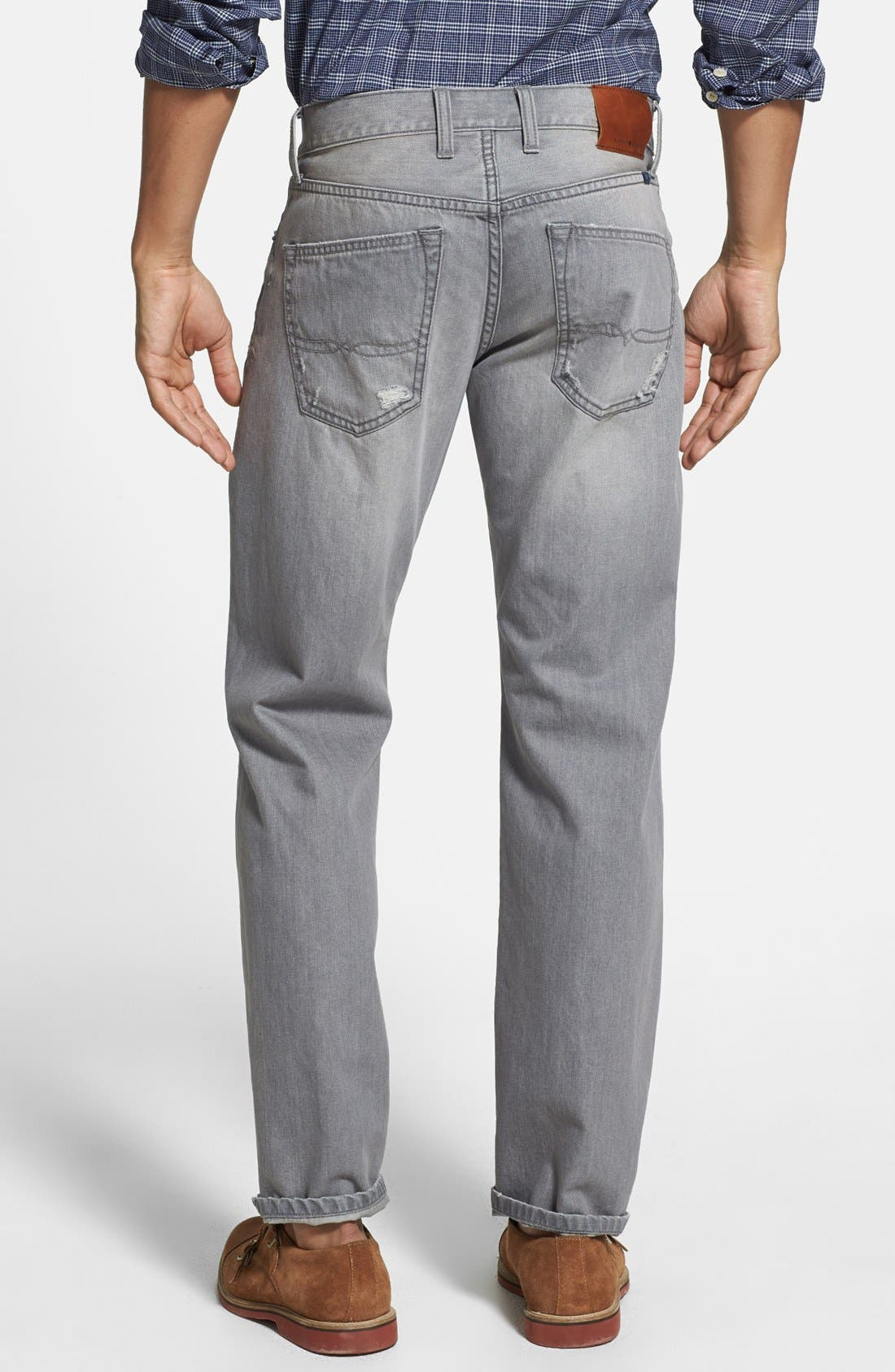 Alternate Image 2  - Lucky Brand '221 Original' Straight Leg Jeans (Sediment)