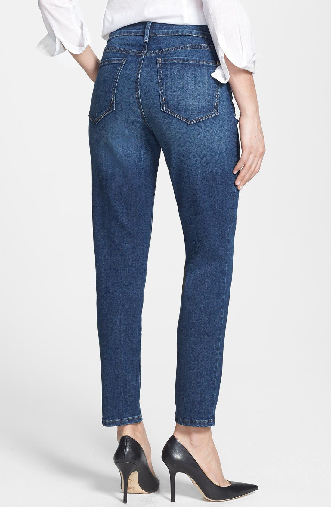 Alternate Image 2  - NYDJ 'Clarissa' Fitted Stretch Ankle Skinny Jeans (Riverbank) (Regular & Petite)