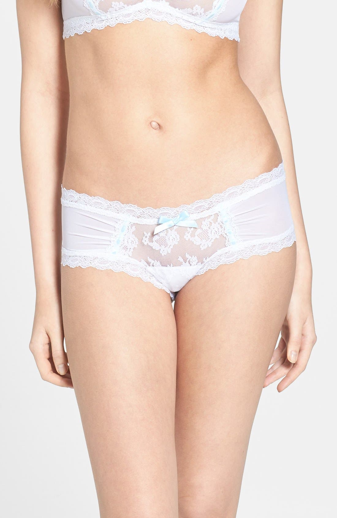 Alternate Image 1 Selected - Hanky Panky 'Madeline' Shirred Cheeky Hipster Briefs