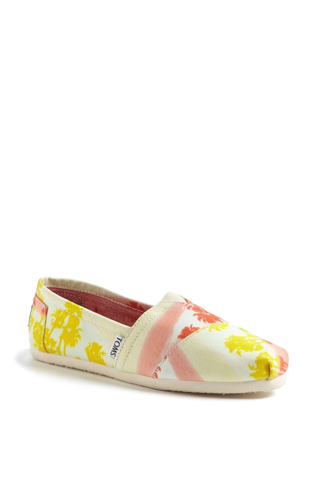 Alternate Image 1 Selected - TOMS 'Classic - Palm Trees' Slip-On (Women)