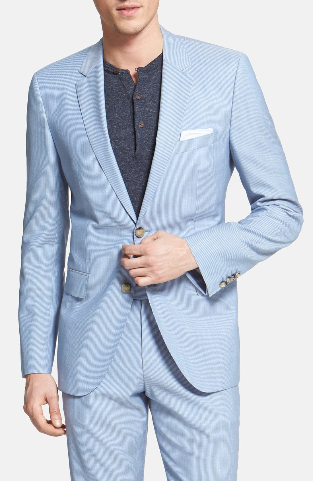 Alternate Image 3  - BOSS HUGO BOSS 'James/Sharp' Trim Fit Virgin Wool Suit