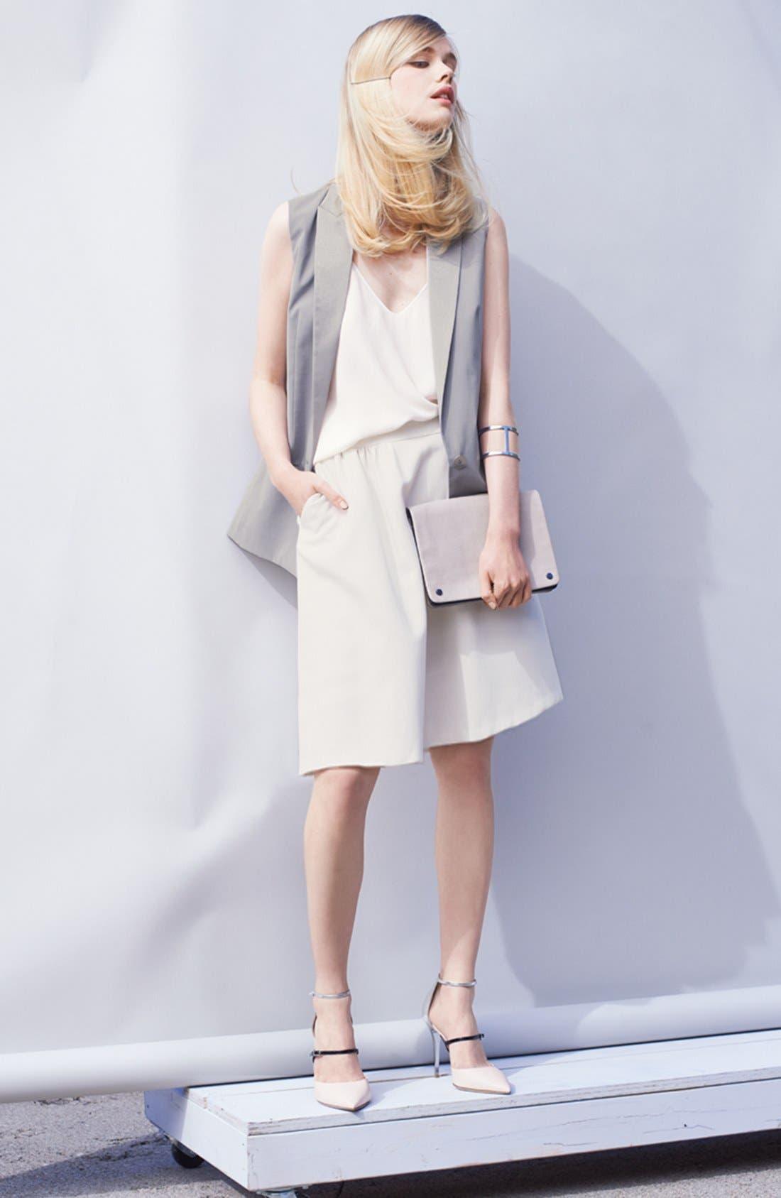 Alternate Image 5  - Chelsea28 Shirred Woven Skirt