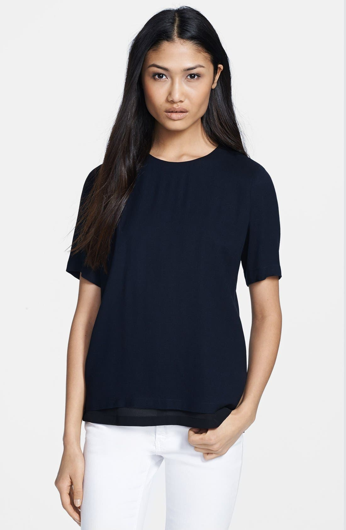 Alternate Image 1 Selected - A.L.C. 'Kati' Open Back Layered Top