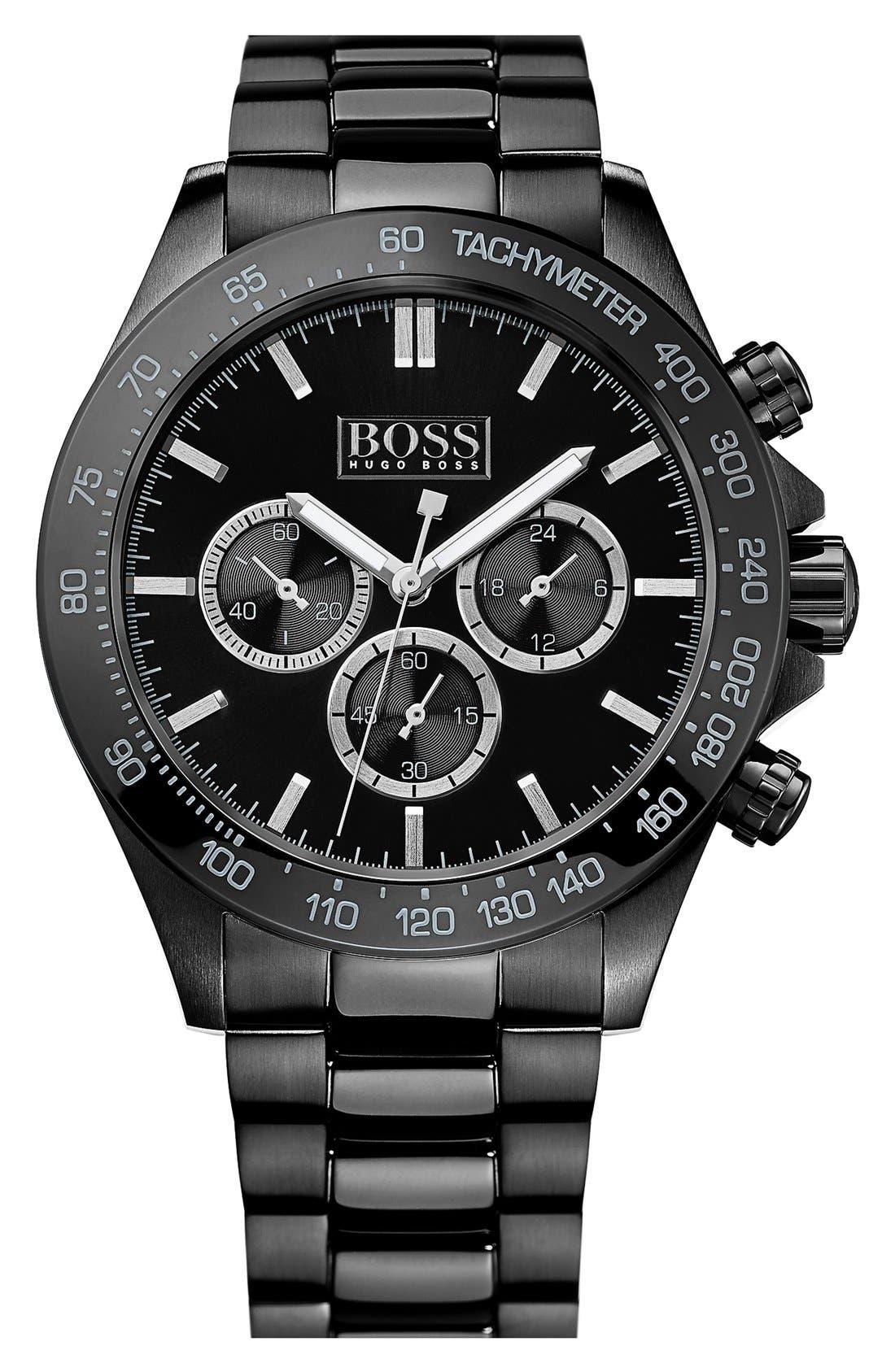 Main Image - BOSS Round Chronograph Bracelet Watch, 44mm