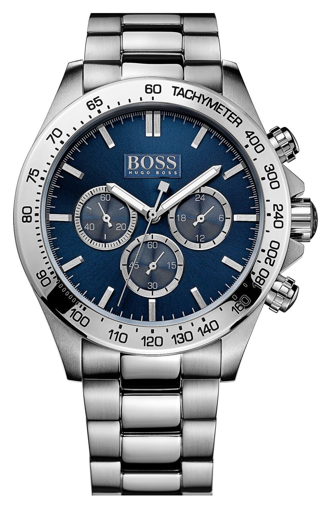 Main Image - BOSS HUGO BOSS Round Chronograph Bracelet Watch, 44mm