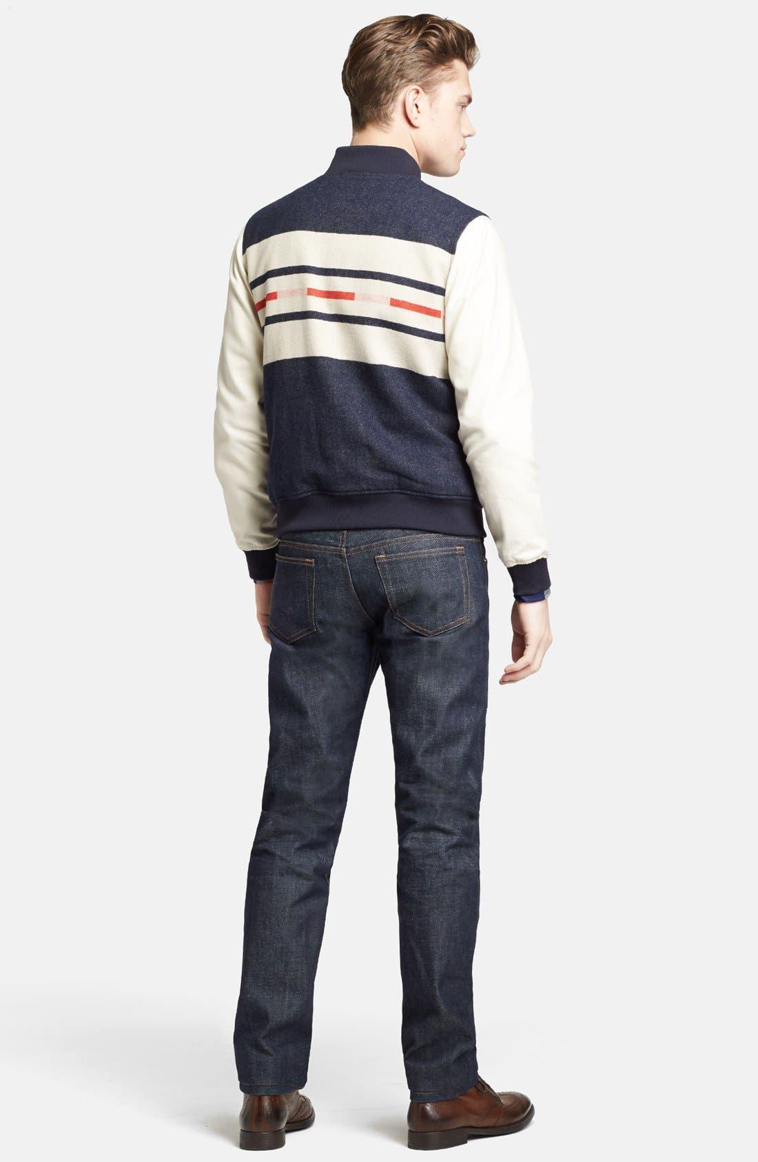 Alternate Image 5  - Pendleton Portland Collection 'Franklin' Camp Stripe Varsity Jacket