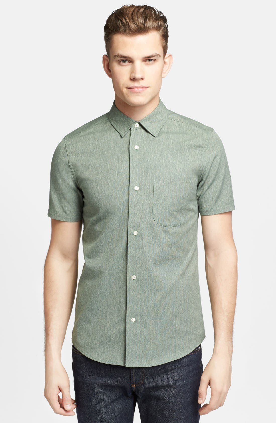 Alternate Image 1 Selected - Pendleton Portland Collection 'Yachats' Short Sleeve Selvedge Poplin Shirt