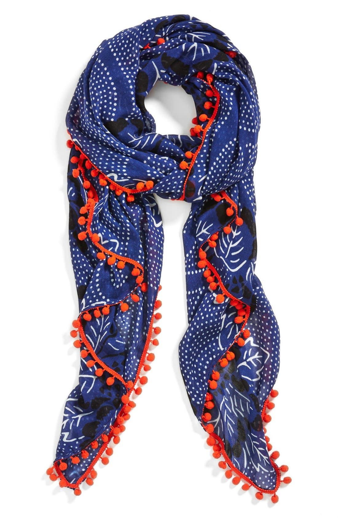 Alternate Image 1 Selected - Halogen® 'Ink Floral' Scarf