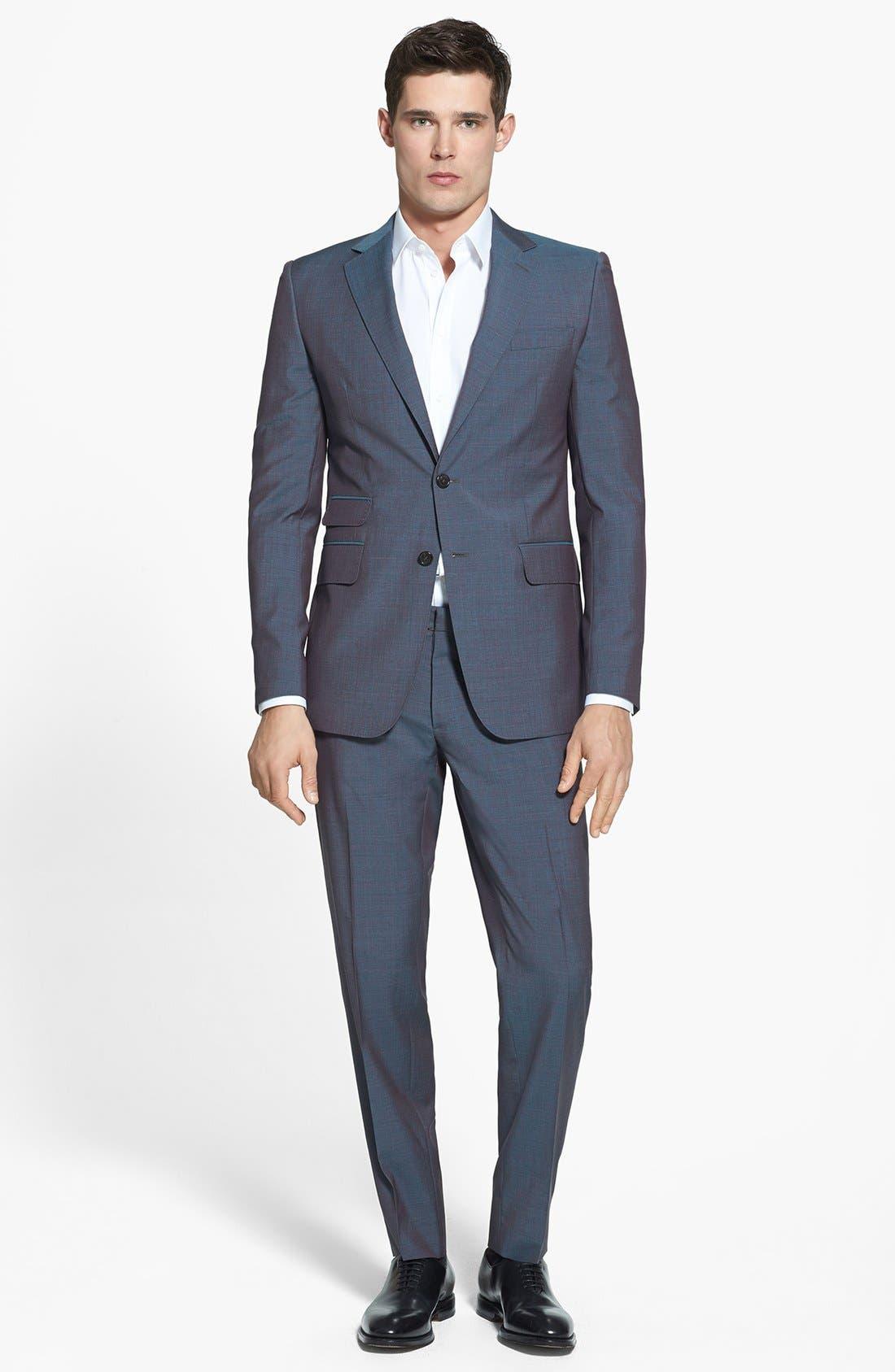Main Image - Dsquared2 'Milano' Mélange Wool Suit