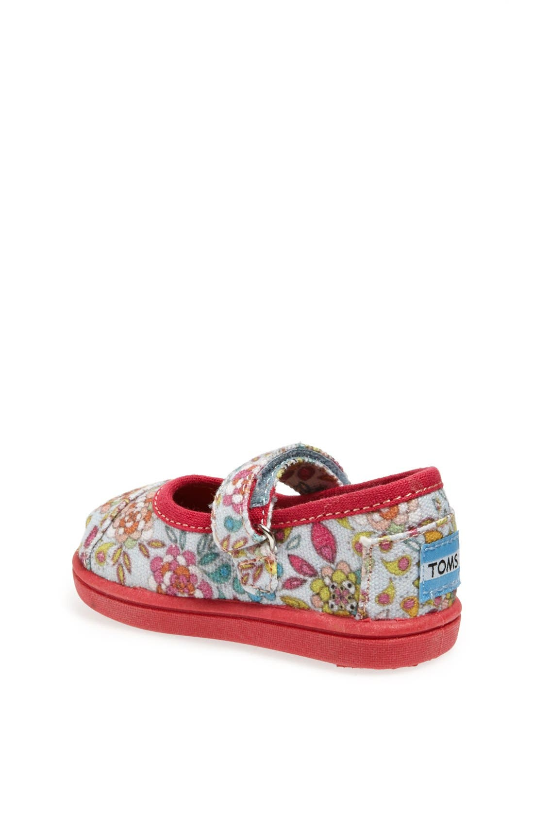 Alternate Image 2  - TOMS 'Tiny - Inked Floral' Mary Jane Flat (Baby, Walker & Toddler)