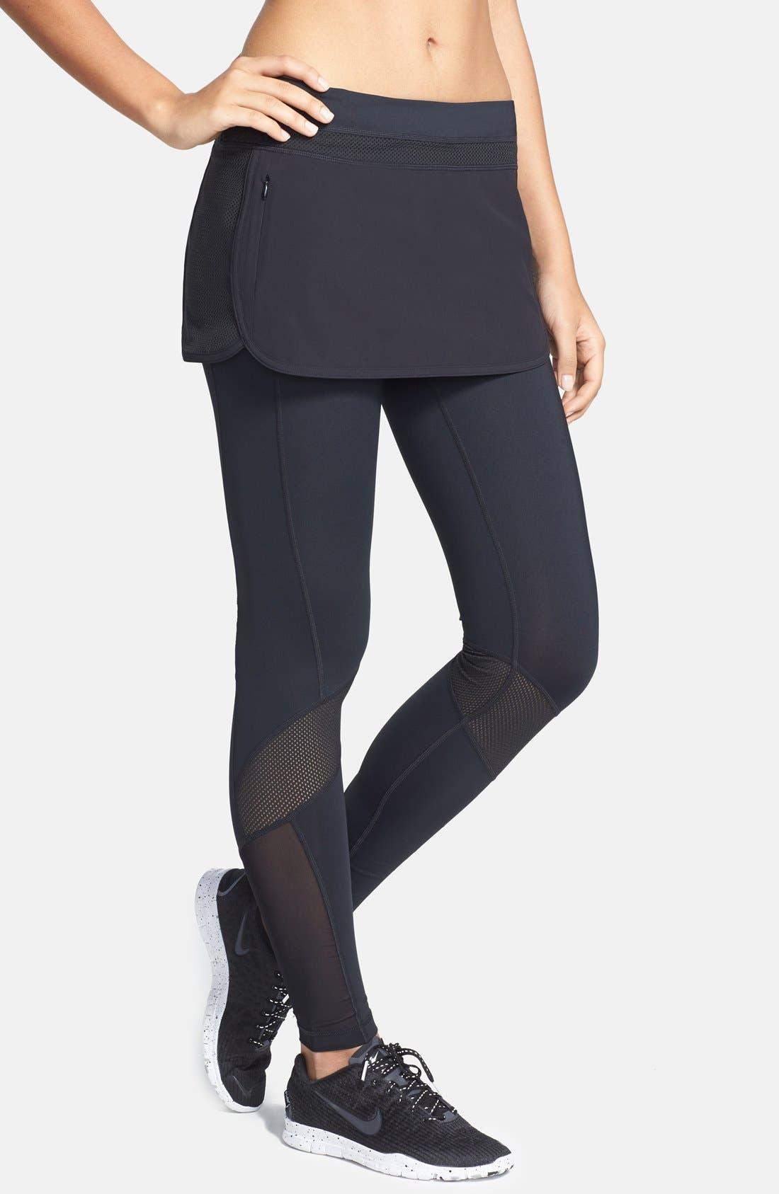 Alternate Image 1 Selected - Zella 'Sidelight' Track Skirt