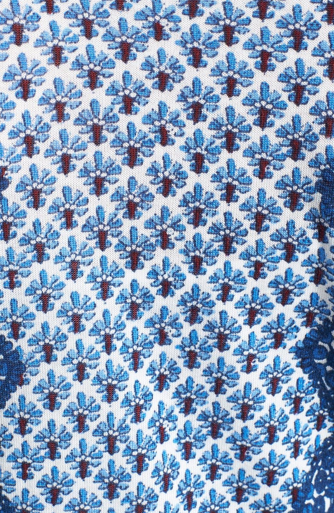 Alternate Image 3  - Tory Burch 'Diana' Print Merino Wool Cardigan