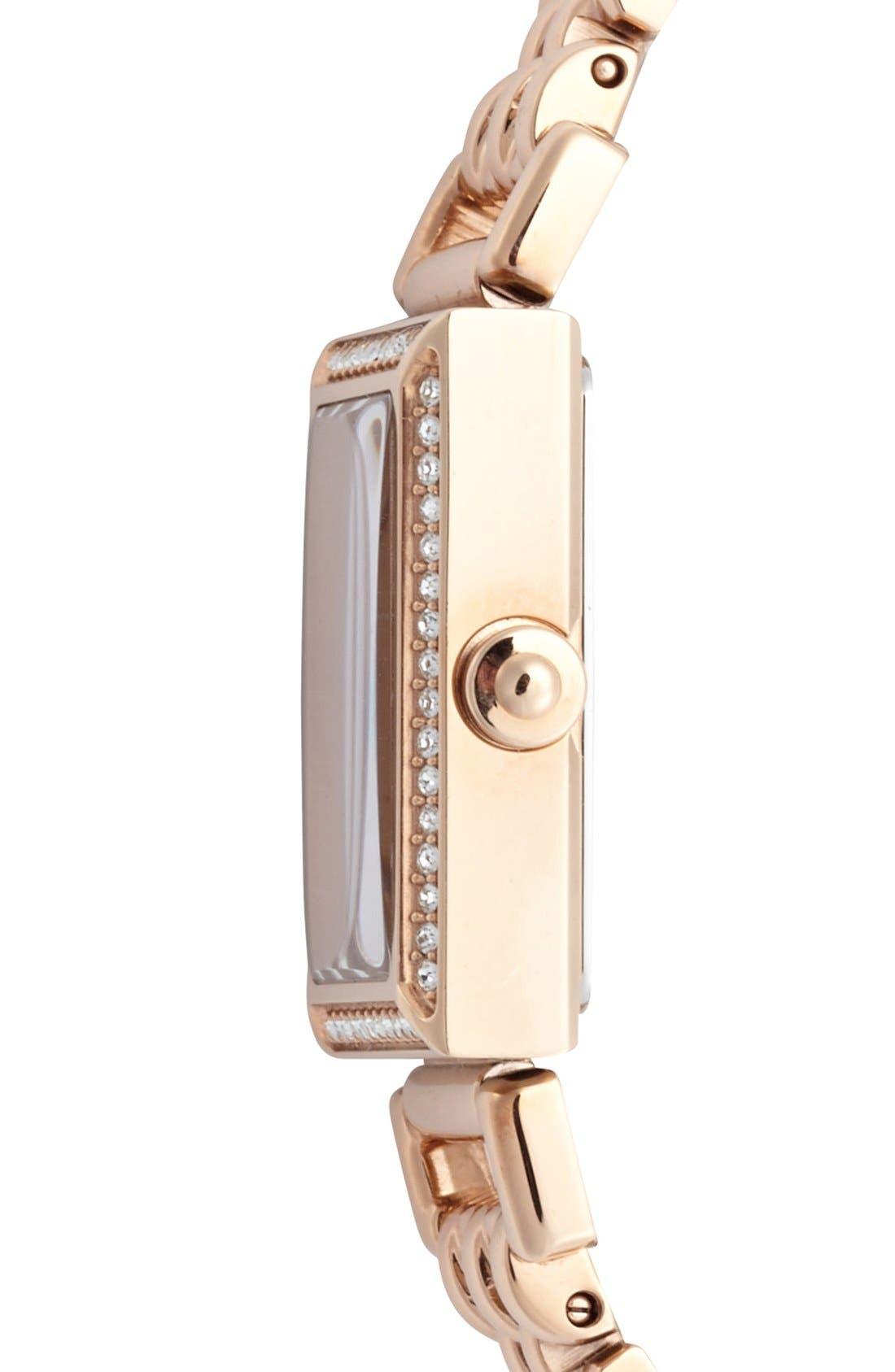 Alternate Image 3  - COACH 'Madison' Crystal Bezel Bracelet Watch, 17mm x 30mm