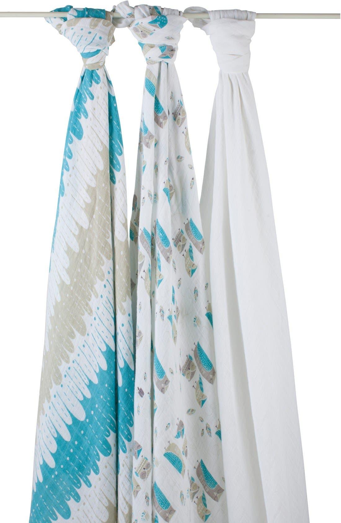 Main Image - aden + anais Organic Swaddling Cloths (3-Pack)