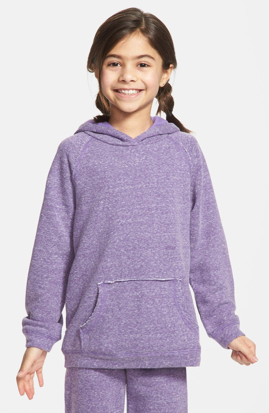 Main Image - Peek 'Logan' Pullover Fleece Hoodie (Toddler Girls, Little Girls & Big Girls)