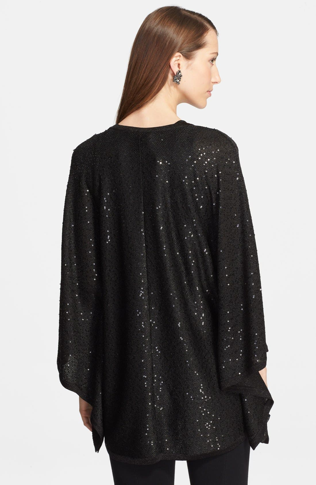 Alternate Image 2  - St. John Collection Sequin Knit Trapeze Cardigan