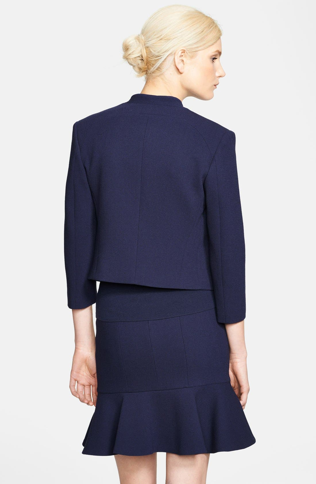 Alternate Image 2  - Michael Kors Bouclé Stretch Wool Jacket