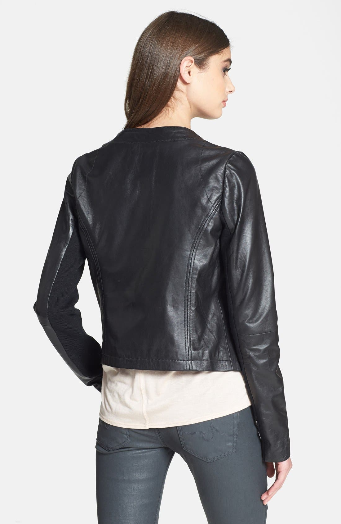 Alternate Image 2  - Cascade Leather Jacket