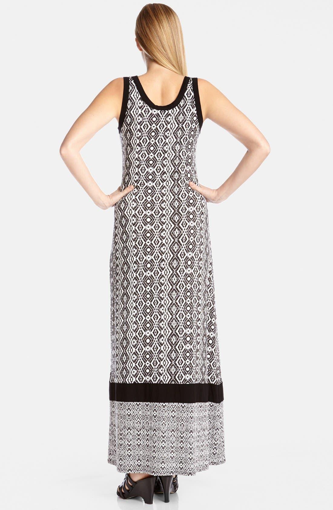 Alternate Image 2  - Karen Kane Contrast Print Tank Style Maxi Dress