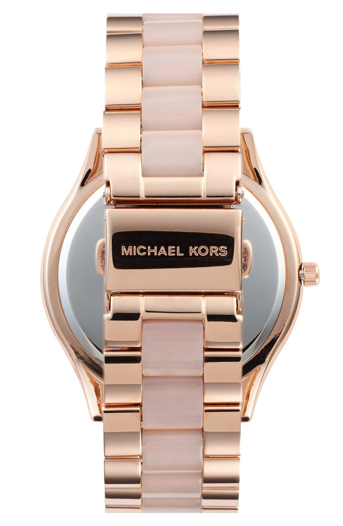 Alternate Image 2  - Michael Kors 'Blair' Crystal Bezel Two-Tone Bracelet Watch, 39mm