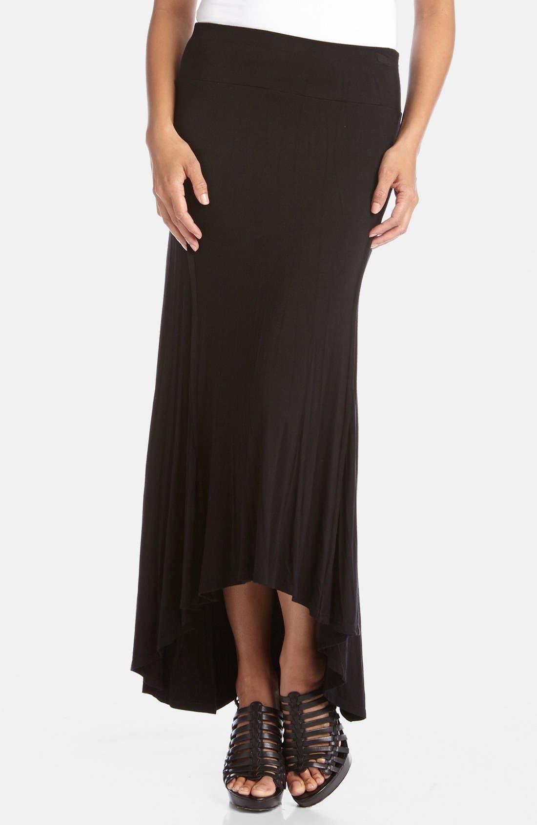 Main Image - Karen Kane Reverse Seam High/Low Skirt