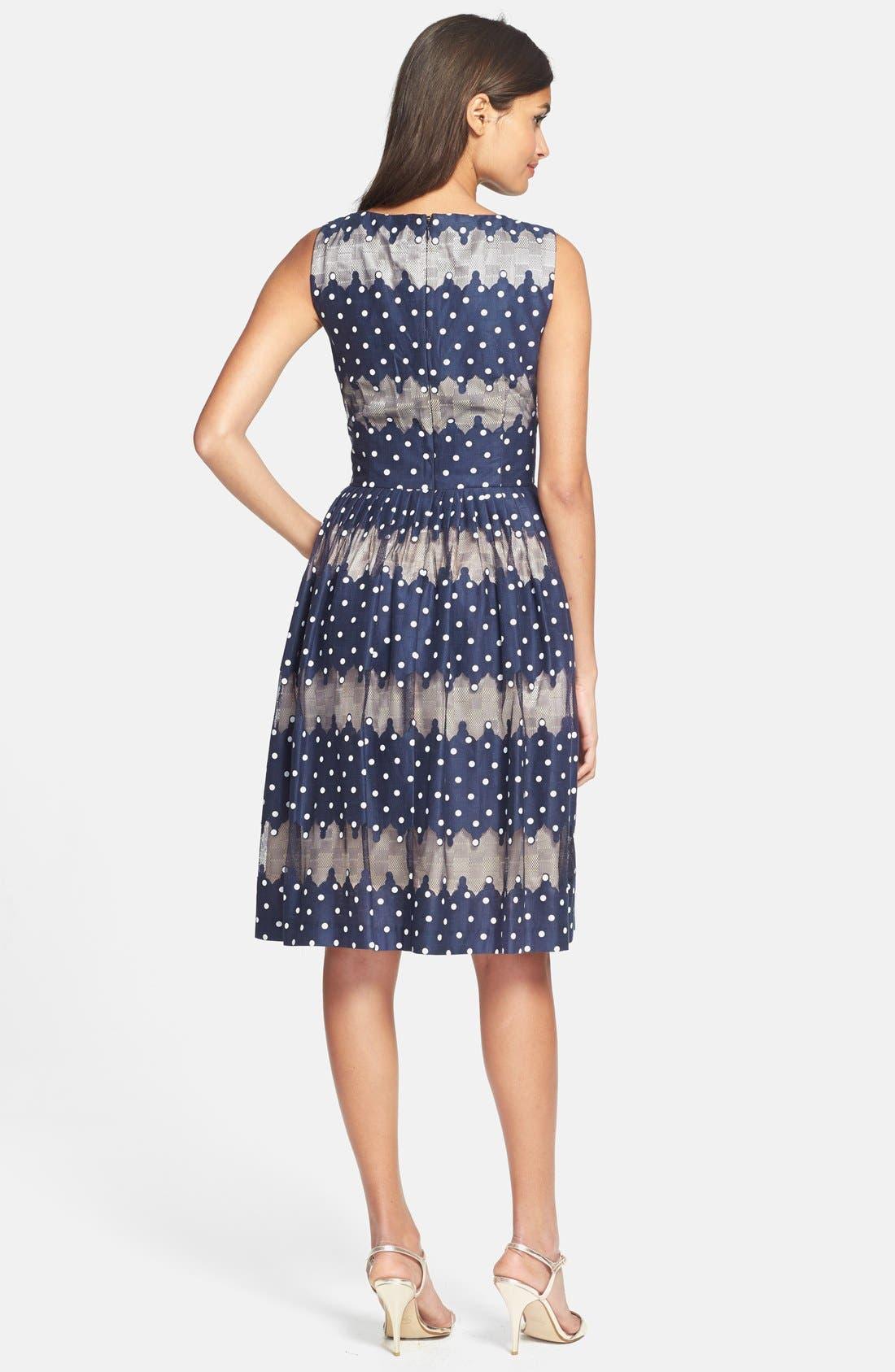 Alternate Image 2  - Maggy London Burnout Dot Fit & Flare Dress