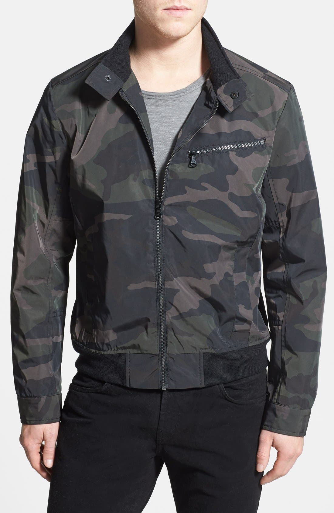 Alternate Image 1 Selected - Kenneth Cole New York Camo Bomber Jacket