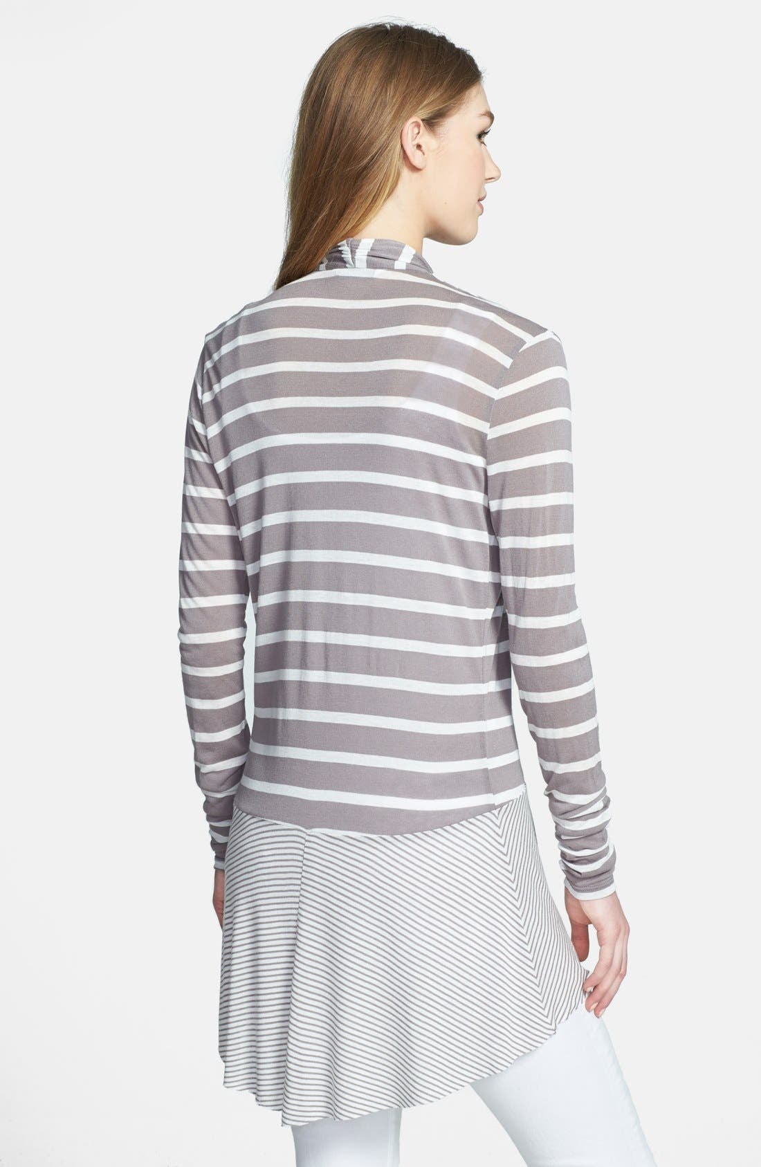 Alternate Image 2  - Three Dots Mixed Stripe Cardigan